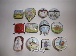 Peint Main Limoges Trinket-The 12 Days Of Christmas Collection