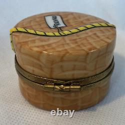 Peint Main ROCHARD Limoge France HAT BOX Trinket Box