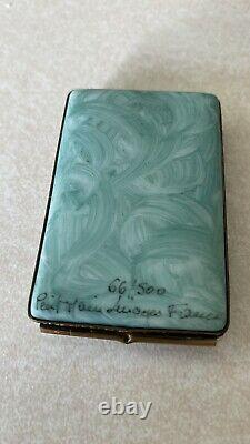 Peint main limoges trinket box. Renoir Numbered