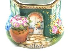 Potter's shed with watering can Limoges Box (Retired)