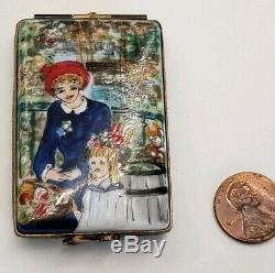 RENOIR 1881 PEINT MAIN LIMOGES PILL Trinket BOX signed and numbered limited ed