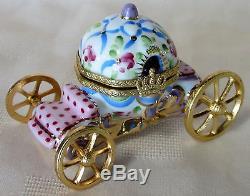 Rochard Limoges Cinderella Pastels Box Hand Painted France Bnib Porcelain Hinged