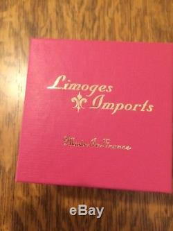 ROCHARD LIMOGES France Hand Painted Hanukkah DREIDEL Hinged Trinket Box