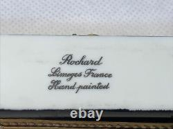 ROCHARD Limoge France Hand Painted PAINTERS PALATTE with PAINT BRUSH Trinket Box