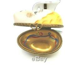 ROCHARD Mardi Gras Lady with Hinged Mask Limoges Box (Retired)