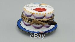 ROCHARD Vanilla Birthday Cake Limoges Box