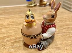 Rabbit And Duckling Limoge Box