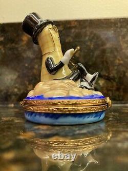 Rare Antoria Hand Painted Planters Mr Peanut Limoge Trinket Box
