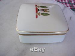 Rare Le Maison De Cartier, Limoges Trinket Porcelain Box, 1986, #32, France