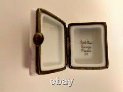 Rare Le Petit Prince/The Little Prince Book Limoges/Dubarry Trinket Box