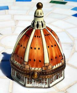 Rare Liimoges Peint Main Eximious trinket box (Florence Duomo)