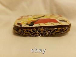 Rare Limoges Peint Main Moulin Rouge Trinket Box Jane Avril Numbered 159/999