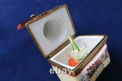 Rare MOULIN ROUGE Limoges Trinket Box Peint Main