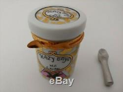 Rare Retired Limoges Hazy Days Ice Cream Trinket Box With Scoop HTF