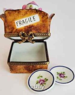 Rare Rochard Limoges Paris Peint Mein France China Tea Set Moving Trinket Box