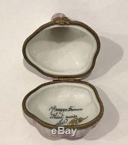 Rare! Tiffany & Co. Limoges France Hand Painted Garlic Clove Trinket Box Signed