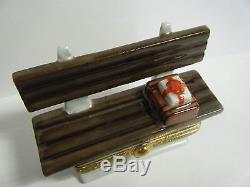 Rare Vtg Limoges France 1997 Forrest Gump Bench Small Trinket Box Excellent