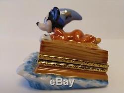 Rare and Retired New Artoria Disney Fantasia Mickey Mouse Limoges Trinket Box
