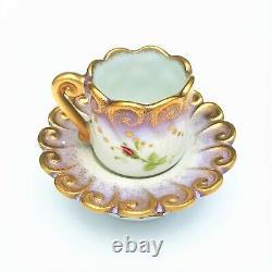 Retired Parry Vieille Limoges Tea Cup & Saucer Trinket Box