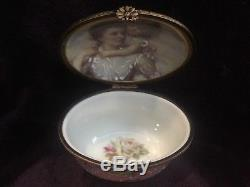 Rochard Limoges AUTHENTIC Mother Daughter Trinket Box #149/250