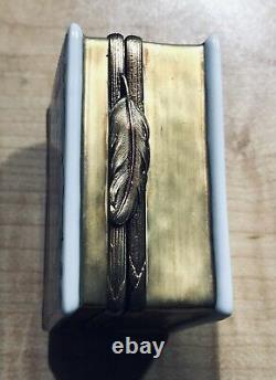 Rochard Limoges Blue & Gold Trinket Book with Perfume Bottle-Vintage & Rare