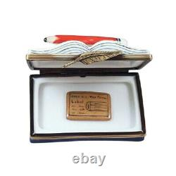 Rochard Limoges CPA Book Trinket Box