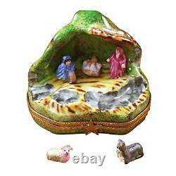 Rochard Limoges Christmas Nativity with Removable Animals Trinket Box