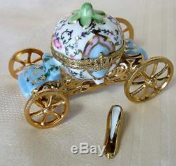 Rochard Limoges Cinderella Caridge Wheels Move Hand Painted France Bnb Porcelain