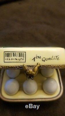 Rochard Limoges France 1/2 Dozen Eggs Trinket Box