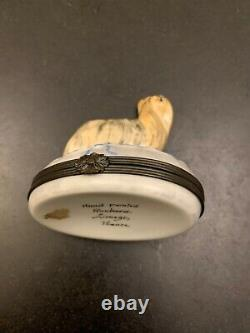 Rochard Limoges France Hand Painted Trinket Box Dog Yorkie Yorkshire Terrier