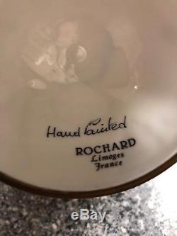 Rochard Limoges France Hand Painted Trinket Box Globe of The World