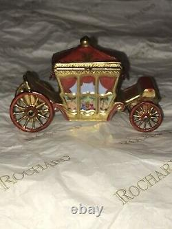 Rochard Limoges France Hermitage Queen's Red Royal Carriage Coach