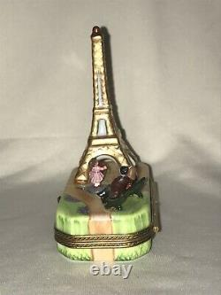 Rochard Limoges France Peint Main I Love Paris Eiffel Tower Trinket Box