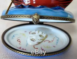 Rochard Limoges Gondola Venice Box Hand Painted France Bnib Porcelain Hinged