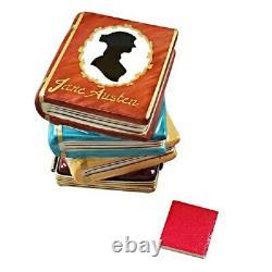 Rochard Limoges Jane Austen Stack of Books Trinket Box