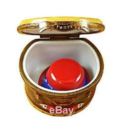 Rochard Limoges Paris Hat Box with Hat Trinket Box