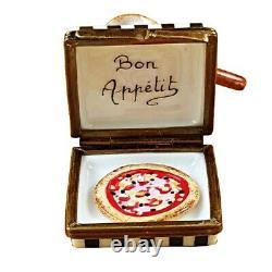 Rochard Limoges Pizza Box with Pizza Trinket Box