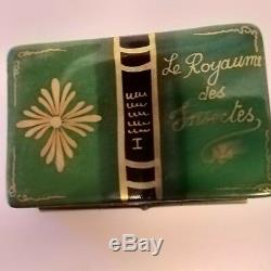 Rochard Limoges Trinket box Book Kingdom of Insects with ladybug on leaf