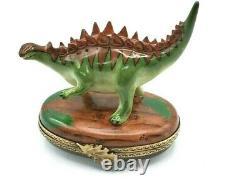 Rochard Stegosaurus dinosaur Limoges Box (Retired)