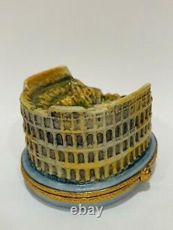 Roman Collosseum Limoges Trinket Box ARTORIA Peint Main