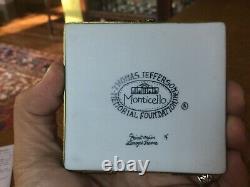 S & D Limoges porcelain box Monticello Thomas Jefferson Virginia UVA vintage