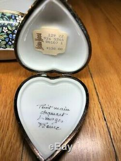 SET OF 7 Limoges Assorted Chamart France Peint Main Porcelain Trinket Box Gp 6