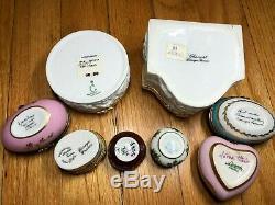 SET OF 8 Limoges Assorted Chamart Peint Main Porcelain Trinket Box Group 1
