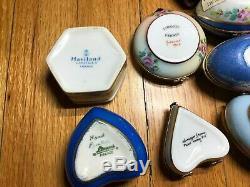 SET OF 9 Limoges Assorted France Haviland Peint Main Porcelain Trinket Box Gp 2