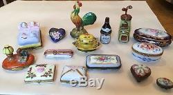 Set of 15 Vintage Limoges Boxes made in France