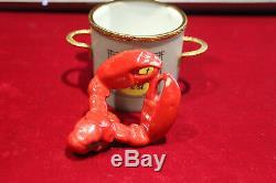 Signed Limoges Peint Main Limited Edition Trinket Box Lobster Fest Pot #126/500