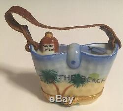 Sinclair Limoges France Trinket Ltd Ed Box Peint A La Main Beach Collection
