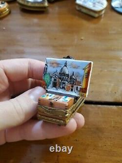 St Peter basilica Painting French Easel Paint Tubes Peint main PV LIMOGES