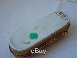Stunning Rare vintage Limoges porcelain hand painted trinket box peint main