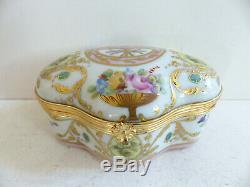 Superb Vintage Le Tallec Paris Limoges Gold Handpainted Trinket Jewelry Box (#1)